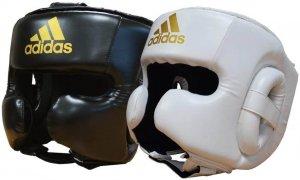 casque de boxe adidas speed sparring blanc et noir